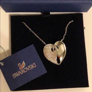 Swarovski heart necklace.  NWT